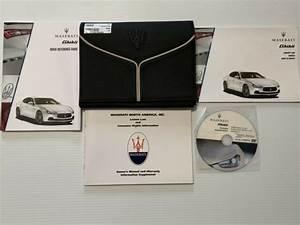 2014 Maserati Ghibli S Q4 Owners Manual Guide Books Dvd