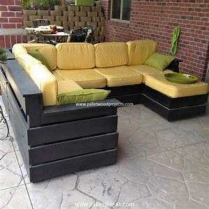 Pallet patio furniture sets pallet wood projects for Pallet sectional sofa plans