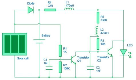 solar light circuit diagram harnessing the power of the sun with a solar garden light