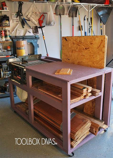 hometalk table  workbench  wood storage