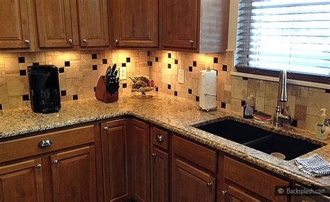 tile kitchen cabinets santa cecilia granite travertine backsplash backsplash 2755