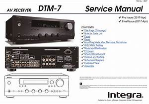 Integra Dtm 7 Av Receiver Service Manual And Repair Guide