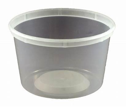 Plastic Tub Oz Pp Natural Tubs Round