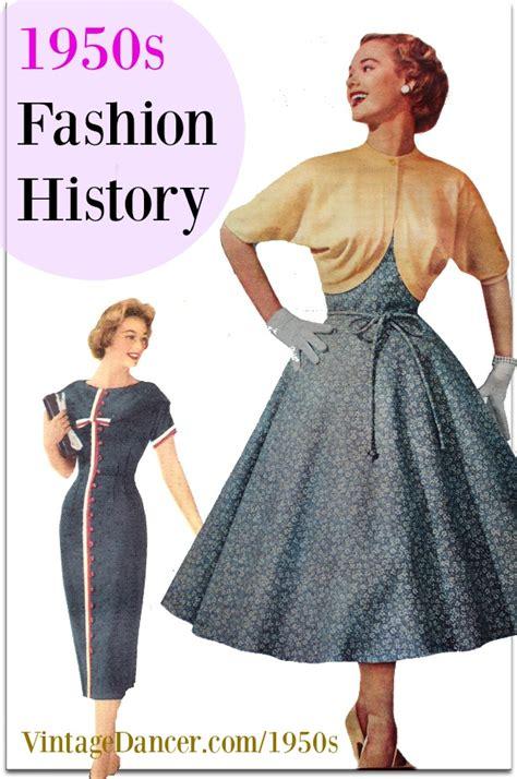 1950s Fashion History Womens Clothing
