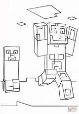 Minecraft Coloring Creeper Pages Steve Ghast Printable Drawing Colorings Supercoloring Getdrawings Getcolorings Games Crafts sketch template