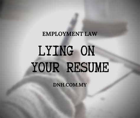 Lying On Employment Application by Malaysian Employee Resume Donovan Ho