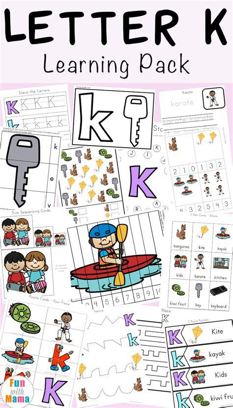 letter k worksheets with 339 | Letter K Learning Pack a