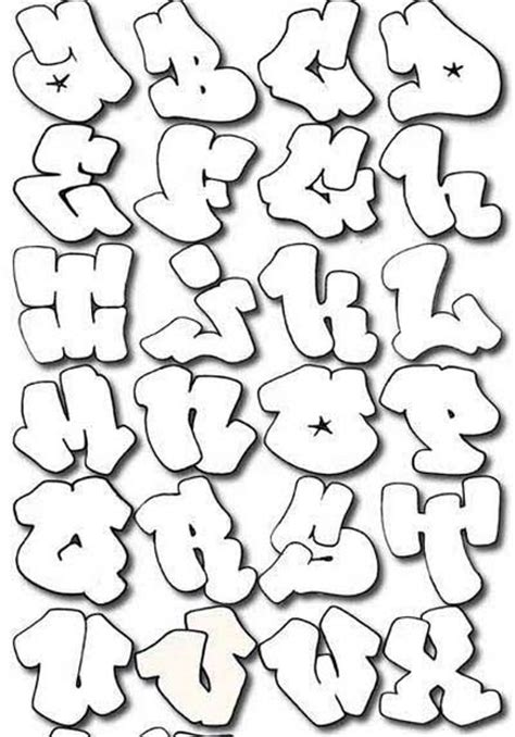 alphabet letters in graffiti bubbles graffiti letters graffiti sle
