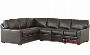 gold coast leather true sectional by savvy is fully With gold leather sectional sofa