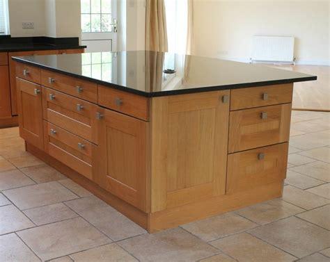 bespoke oak kitchen island with top quality large black