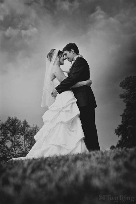 romantic  dramatic black  white wedding photography