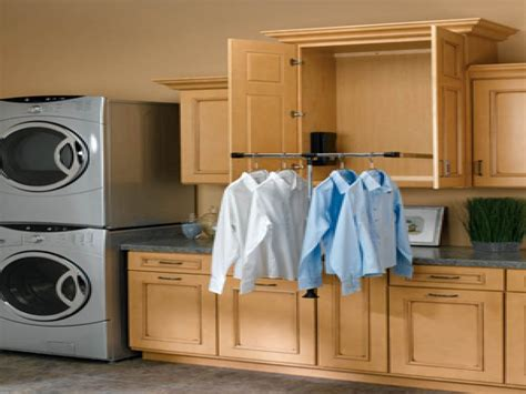 Laundry Built In Laundry Room Clothes Rod Pictures