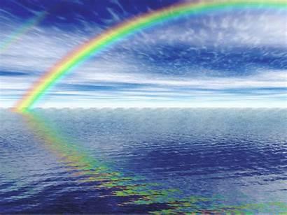 Rainbow Scenery Sky Worthlessness Sea Veryfatoldman Lovely