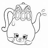 Coloring Teapot Shopkins Season Shopkin Tea Pot Dibujos Petkins Cartoon Tetera Linda Printable Colorir Polly Desenhos Colorear Tomato Papa Cheeky sketch template