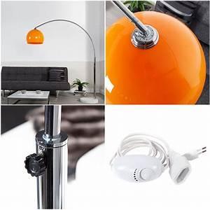 Stehlampe Retro Design : big bow retro design bogenlampe orange gro e stehlampe h henverstellbar ebay ~ Bigdaddyawards.com Haus und Dekorationen