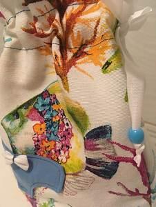 Sacca Porta Biancheria Intimo   Costumi Pesci Azzurro