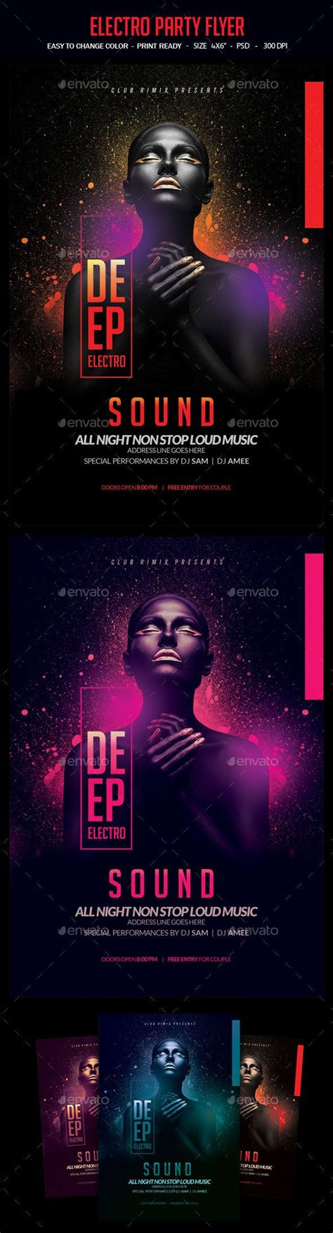Download Graphicriver Electro Dj Party Flyer Template 6502526 by Best 25 Flyer Template Ideas On Pinterest Flyer Design