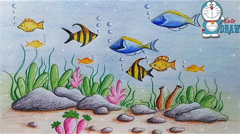 How To Draw Scenery Of Ocean Bottom Step By Step