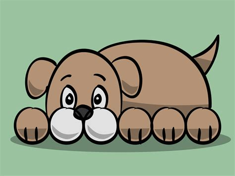 draw  simple cartoon dog  steps  pictures