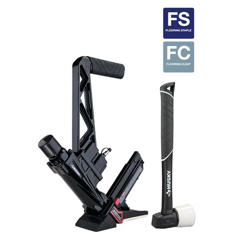 pneumatic flooring nailer vs manual husky pneumatic 16 flooring nailer stapler hdufl50
