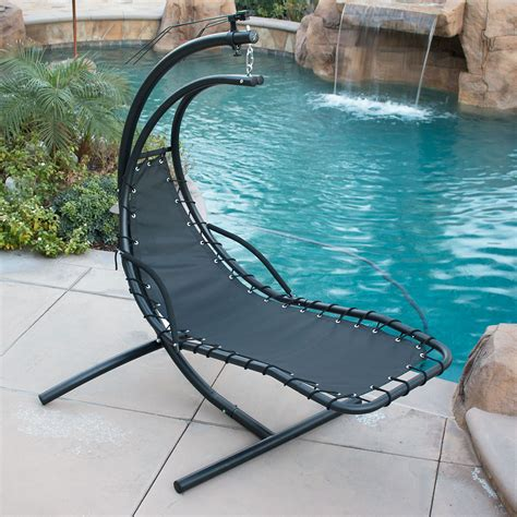 patio furniture ebay canada hanging chaise lounger chair arc stand air porch swing