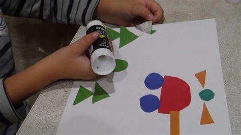 craft geometric shapes  patterns  kids diy