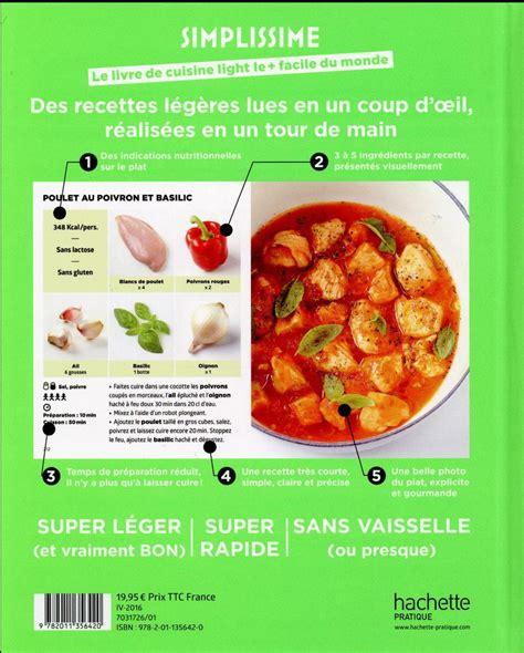 livre recette cuisine couvertures images et illustrations de simplissime le
