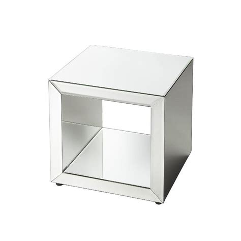 mirrored cube end table mirrored cube table decorative coffee table wisteria