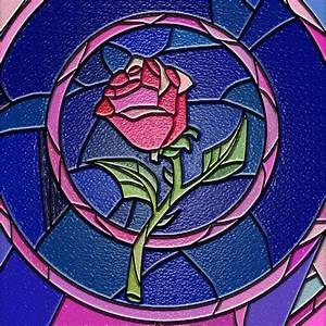 Image result for beauty and the beast stained glass rose ...