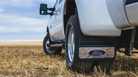 Ford Mud Flaps by Truck Hardware Truck Hardware Gatorback Ford Oval Mud