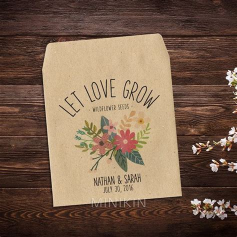 wedding seed packets seed packet favors flower