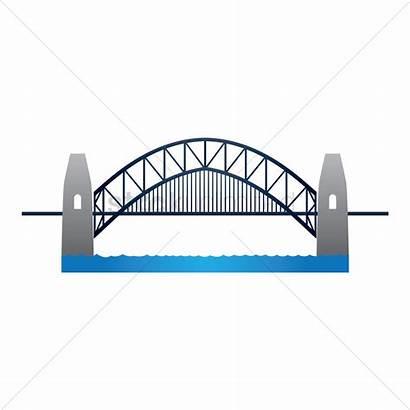 Bridge Harbour Sydney Vector Clipart Svg Graphic