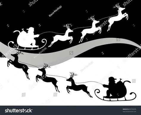 Christmas Santa Claus Riding On Sleigh Stock Vector