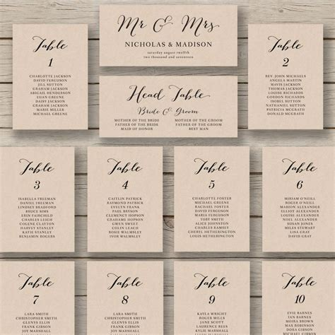 Wedding Seating Chart Template Wedding Seating Chart Template Printable By