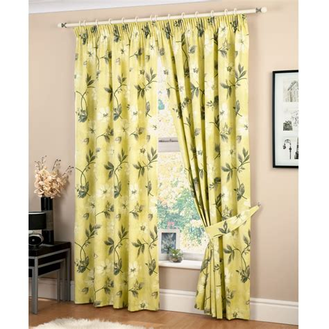yellow floral drapes yellow floral curtains furniture ideas deltaangelgroup