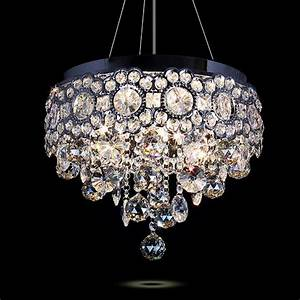 Modern led ceiling chandelier lustre crystal pendant lamp