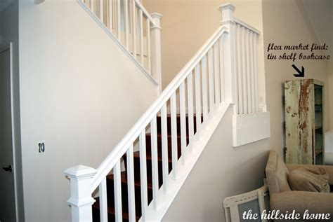 New Banister And Spindles - how to trim the spindles white staircase remodelaholic