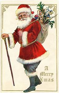 antique santa with image the graphics