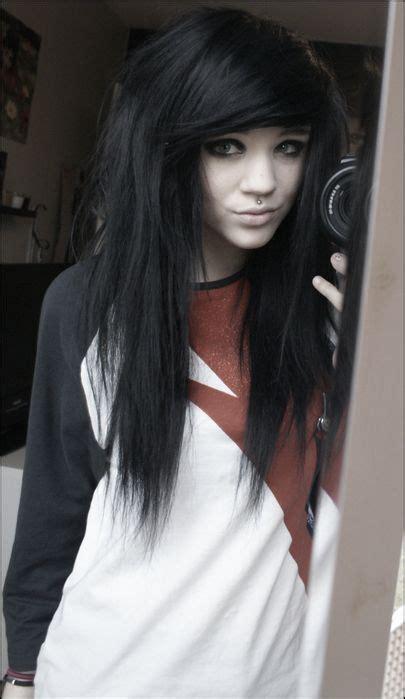 Emo Girl Hair Alternative Black Hair Cute Emo Girl
