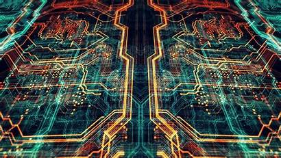 Circuit Board Wallpapers Backgrounds Orange Abstract Tech