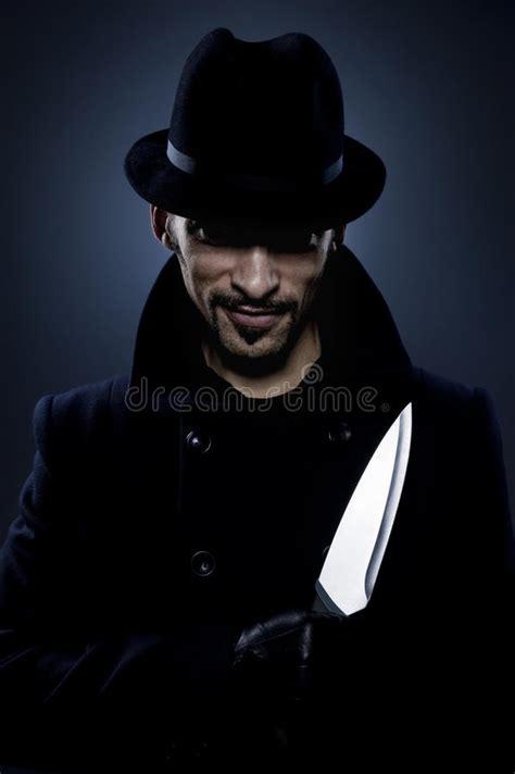scary man   knife stock photo image  killer