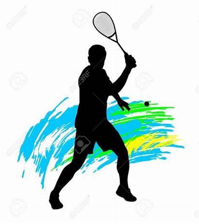 Squash Clipart Player Sports Clip Vector Silhouette