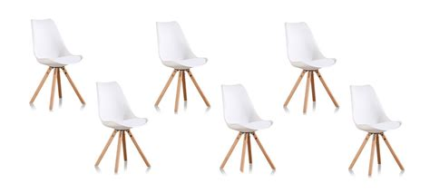 lot de 6 chaises blanches offre sur 6 chaises de salon blanches
