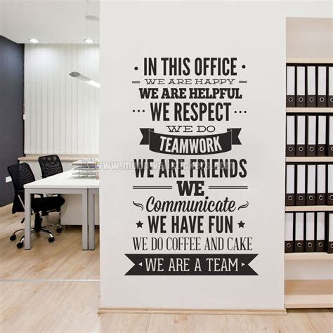 decor bureau in this office typography sticker moonwallstickers com
