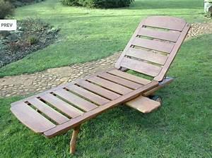 Transat En Bois : transat de jardin bois mobilier de jardin meubles de jardin ~ Teatrodelosmanantiales.com Idées de Décoration