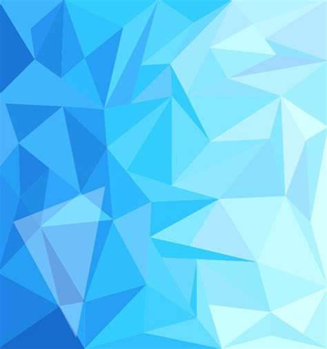 Blue Low Poly Design Abstract Background Vector