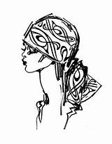 Turban Drawing Getdrawings Sketch Illustration Hijab sketch template