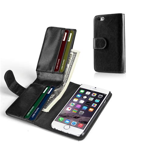 Plus it goes the extra mile, with a card slot letting it double as a basic wallet. iPhone 6s Plus Wallet Case - Synthetic Leather Wallet Case Flip Cover with Credit ID Card Slots ...