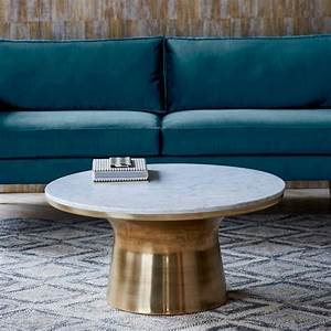 Stone coffee tables with modern style for Large marble top coffee table