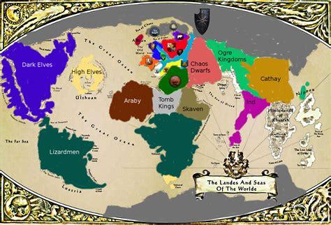 Buy Warhammer Fantasy World Map Print Posters On Wallpart